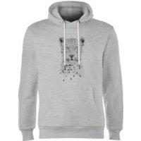 Balazs Solti Leopard Hoodie - Grey - M - Grey