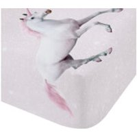 Catherine Lansfield Enchanted Unicorn Fitted Sheet - Pink - Single - Pink