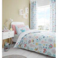 Catherine Lansfield Little Birds Duvet Set - Pastel - Single - Pastel