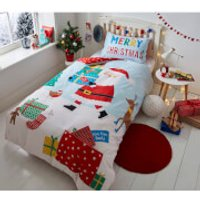 Catherine Lansfield Love from Santa Duvet Set - Double - Blue