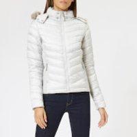 Superdry Women's Hooded Luxe Chevron Fuji Jacket - Pearl - UK 10 - White