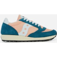 Saucony Women's Jazz Original Vintage Trainers - Teal/Peach - UK 3 - Green/Pink