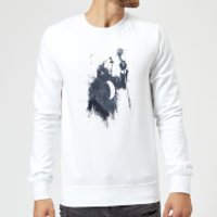 Balazs Solti Singing Wolf Sweatshirt - White - XL - White