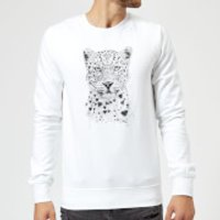 Balazs Solti Love Hearts Sweatshirt - White - S - White - Hearts Gifts