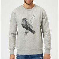 Balazs Solti Birds Flying Sweatshirt - Grey - XL - Grey