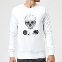 Balazs Solti Skull And Roses Sweatshirt - White - XL - White - Roses Gifts