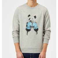Boxing Panda Sweatshirt - Grey - M - Grey - Boxing Gifts