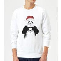 Balazs Solti Santa Bear Sweatshirt - White - XXL - White - Santa Gifts