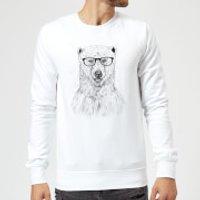 Balazs Solti Polar Bear And Glasses Sweatshirt - White - XXL - White - Polar Bear Gifts