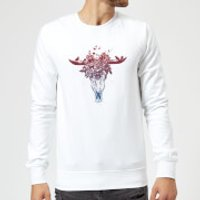 Balazs Solti Skulls And Flowers Sweatshirt - White - XL - White