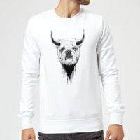 Balazs Solti English Bulldog Sweatshirt - White - XXL - White - English Gifts