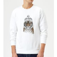 Balazs Solti Winter Tiger Sweatshirt - White - S - White