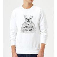 Balazs Solti Same Shit Every Day Sweatshirt - White - S - White