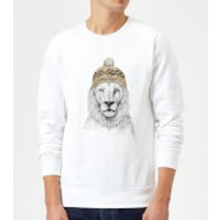 Balazs Solti Lion With Hat Sweatshirt - White - S - White