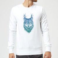 Balazs Solti Wolf Sweatshirt - White - S - White