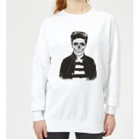 Cool Skull Women's Sweatshirt - White - XS - White - Cool Gifts