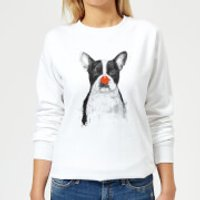 Red Nosed Bulldog Women's Sweatshirt - White - XL - White
