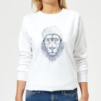 Lion Women's Sweatshirt - White - 4XL - White - Lion Gifts