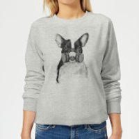 Masked Bulldog Women's Sweatshirt - Grey - XL - Grey