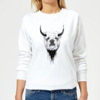English Bulldog Women's Sweatshirt - White - 3XL - White