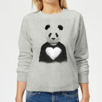 Panda Love Women's Sweatshirt - Grey - L - Grey