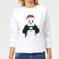 Santa Bear Women's Sweatshirt - White - XL - White - Santa Gifts