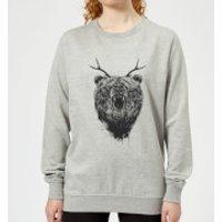 Dear Bear Women's Sweatshirt - Grey - XXL - Grey