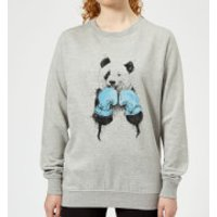 Boxing Panda Women's Sweatshirt - Grey - S - Grey - Boxing Gifts