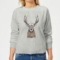 Winter Deer Women's Sweatshirt - Grey - 3XL - Grey
