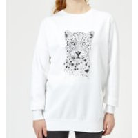 Love Hearts Women's Sweatshirt - White - XL - White - Hearts Gifts