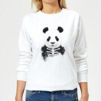 Skull Panda Women's Sweatshirt - White - M - White