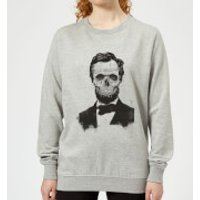 Suited And Booted Skull Women's Sweatshirt - Grey - M - Grey