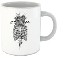 Balazs Solti Skulls And Flowers Mug - Iwoot Gifts