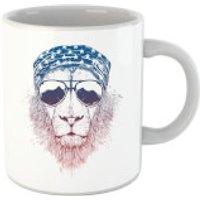 Balazs Solti Bandana Lion Mug - Iwoot Gifts