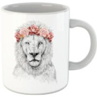 Balazs Solti Lion And Flowers Mug - Iwoot Gifts