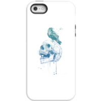 Image of Balazs Solti Skull And Crow Phone Case for iPhone and Android - iPhone 5/5s - Tough Case - Matte