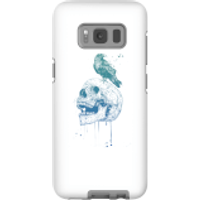 Image of Balazs Solti Skull And Crow Phone Case for iPhone and Android - Samsung S8 - Tough Case - Matte