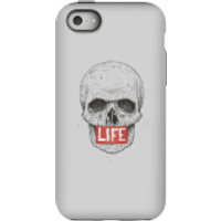 Balazs Solti Life Skull Phone Case for iPhone and Android - iPhone 5C - Tough Case - Matte