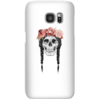 Balazs Solti Skull And Flowers Phone Case for iPhone and Android - Samsung S7 - Snap Case - Matte