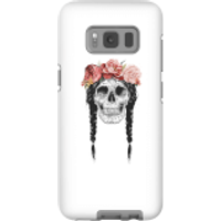Balazs Solti Skull And Flowers Phone Case for iPhone and Android - Samsung S8 - Tough Case - Matte