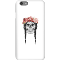 Balazs Solti Skull And Flowers Phone Case for iPhone and Android - iPhone 6S - Snap Case - Gloss