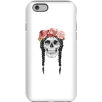 Balazs Solti Skull And Flowers Phone Case for iPhone and Android - iPhone 6S - Tough Case - Gloss