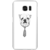 Balazs Solti Suited And Booted Bulldog Phone Case for iPhone and Android - Samsung S6 - Snap Case -