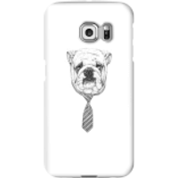 Balazs Solti Suited And Booted Bulldog Phone Case for iPhone and Android - Samsung S6 Edge - Snap Ca