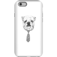 Balazs Solti Suited And Booted Bulldog Phone Case for iPhone and Android - iPhone 6 - Tough Case - M