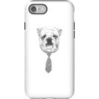 Balazs Solti Suited And Booted Bulldog Phone Case for iPhone and Android - iPhone 7 - Tough Case - M