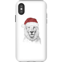 Balazs Solti Santa Bear Phone Case for iPhone and Android - iPhone X - Tough Case - Matte - Santa Gifts