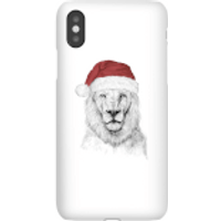 Santa Bear Phone Case for iPhone and Android - iPhone X - Snap Case - Gloss - Santa Gifts