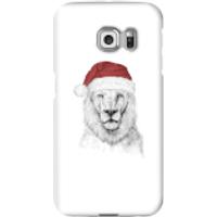 Santa Bear Phone Case for iPhone and Android - Samsung S6 Edge - Snap Case - Gloss - Santa Gifts