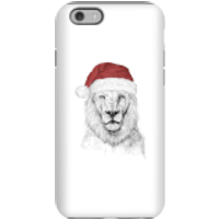 Santa Bear Phone Case for iPhone and Android - iPhone 6S - Tough Case - Gloss - Santa Gifts